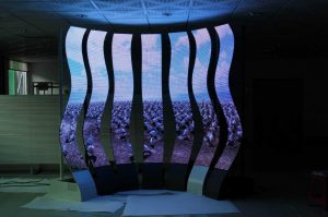 P10 indoor high-definition noise-free LED screen grille curtain display with performance design