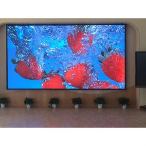 P6 full color HD indoor iron cabinet IP65 SMD LED display