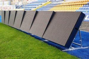 P10 Indoor high refresh rate SMD 3 in 1 TBC stadium perimeter scrolling LED display