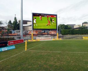 P10 full color SMD outdoor IP68 stadium perimeter high refresh rate LED display
