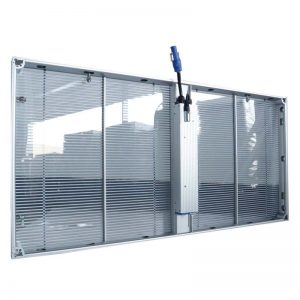 P3.9 3mmx8mm waterproof IP65 160 degree viewing angle transparent glass wall LED video display