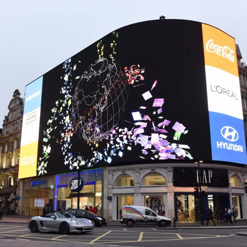 P6 Outdoor full-color fixed installation of high resolution SMD LED digital advertising screen