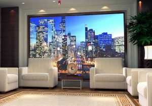 P3 full color HD RS232 indoor SMD 3 in 1 energy-saving LED advertising screen