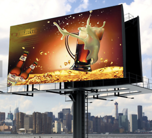 5.10-1 P6 full color outdoor high contrast LED screen billboard with iron cabinet