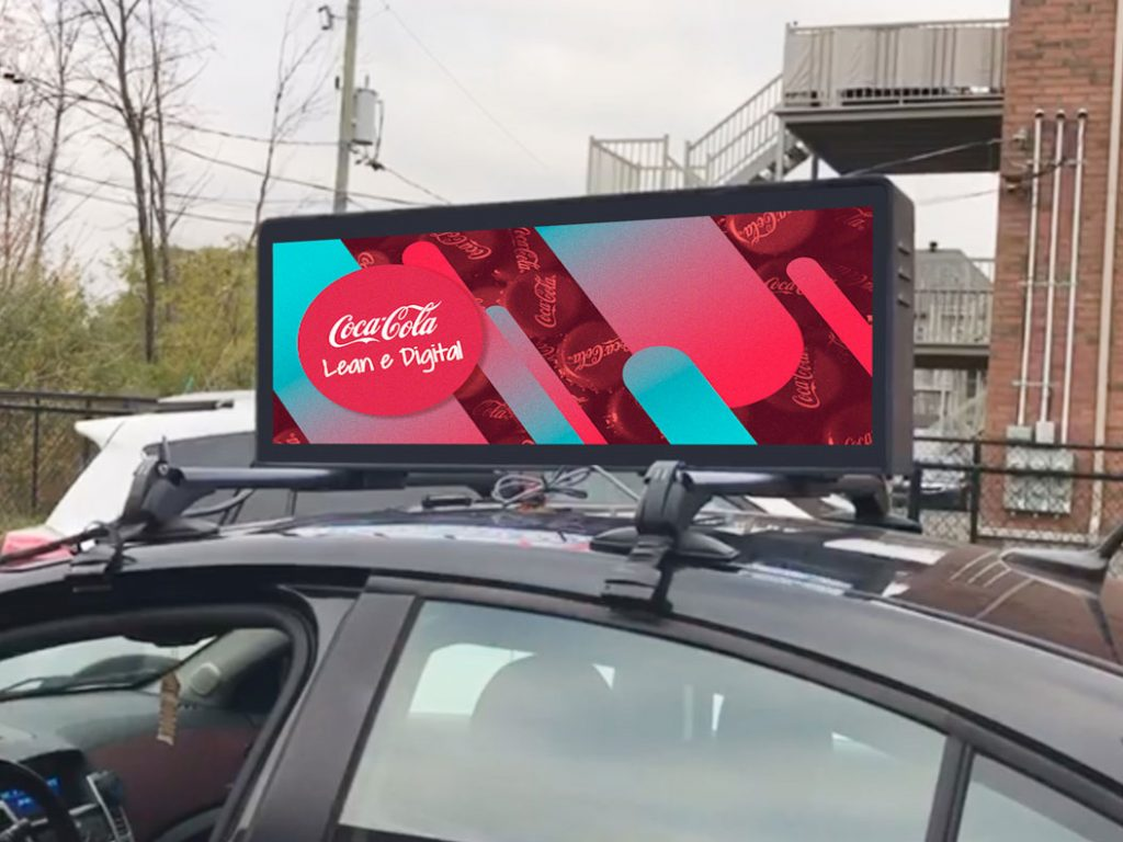 P4 taxi 3G/4G wireless control anti-ultraviolet, fire-proof and waterproof mobile advertising LED display