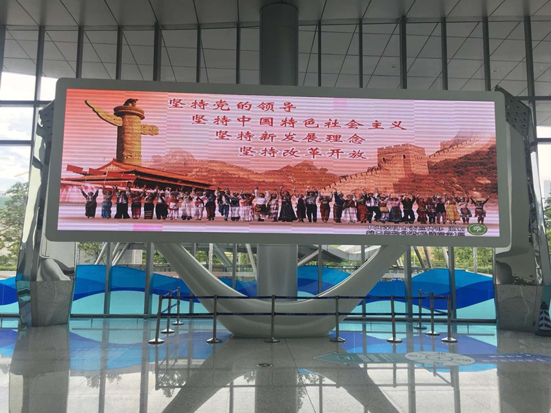 SMD 3535 high brightness front service waterproof LED video screen can be customized