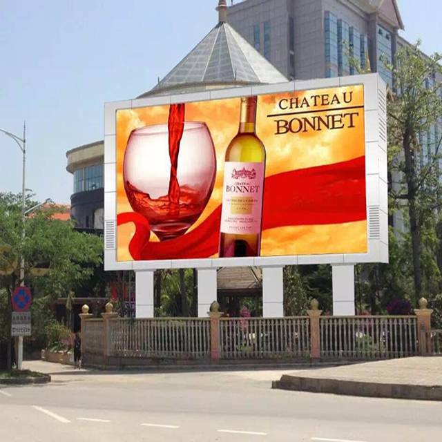 P6 full color HD digital outdoor advertising LED video display panel